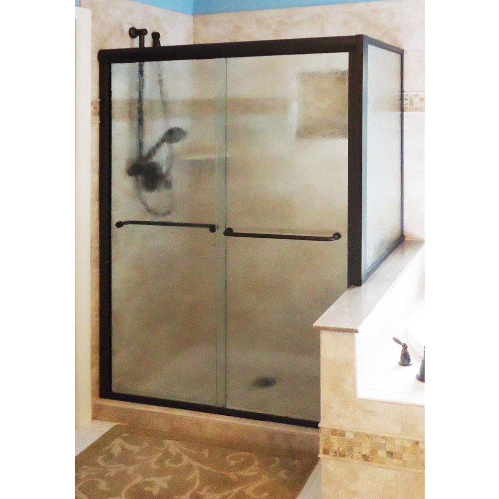 basco 4501tmsn double sliding shower doors return panel