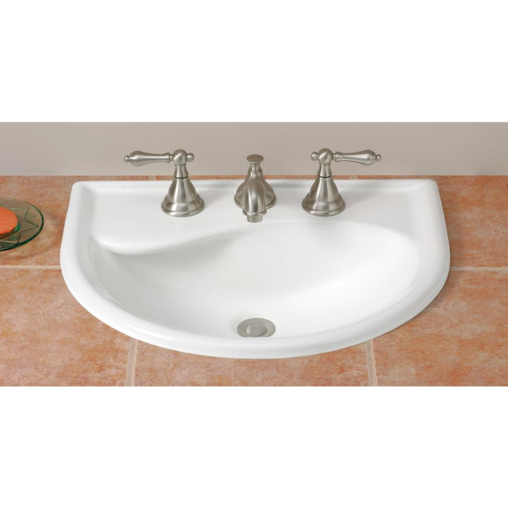 Cheviot Products Drop In Bathroom Sinks item 1177-WH-8