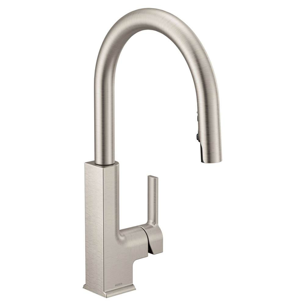 $596.20   $785.20. S72308SRS · Moen; Spot Resist Stainless One Handle  Pulldown Kitchen Faucet ...